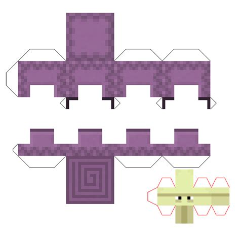 How To Make Papercraft - papercraft shulker