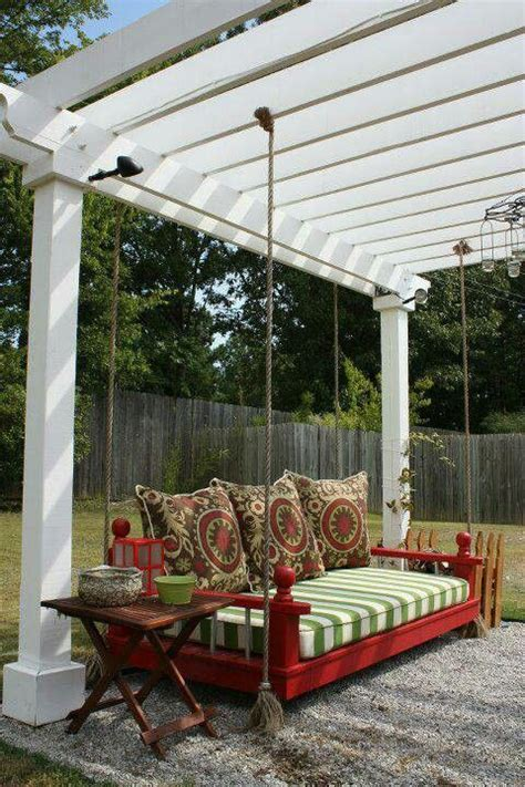 pergola swing bed quot bed quot suspended from pergola beautiful a garden
