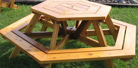 peacock woodcraft hexagon picnic table