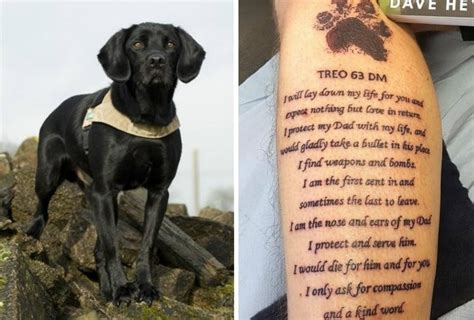 k9 tattoo k9 handler honors with special