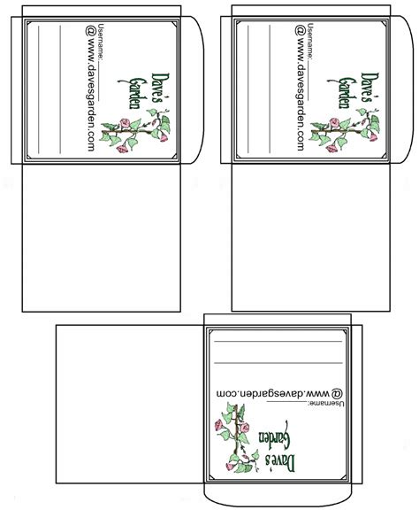 flower envelope template printable seed packets lds activities