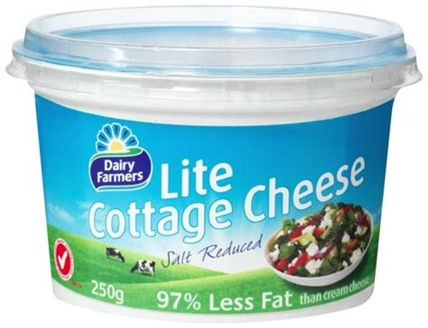 dairy farmers cottage cheese low salt reduced 250g