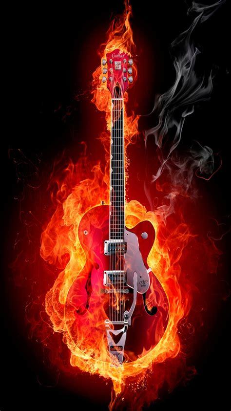 wallpaper iphone fire creative picture fire guitar iphone wallpaper 640x1136