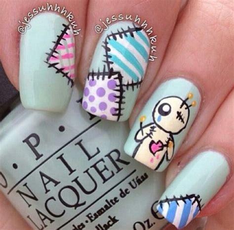 doll nail design voodoo doll patchwork nails nail and design