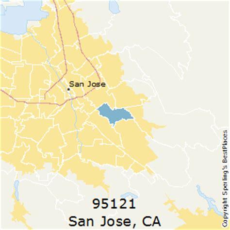 san jose map of zip codes best places to live in san jose zip 95121 california