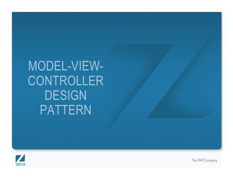 design pattern in zend zend framework getting started for i5