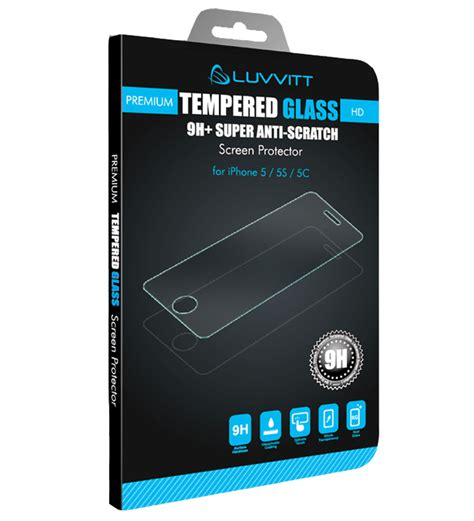 Iphone 7 Tempered Glass Screen Cover 2 luvvitt tempered glass screen protector for iphone 5 5s 5c clear ebay