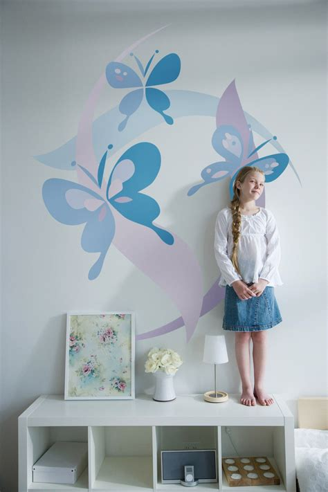 bedroom walls diy butterfly wall decor art ideas for and kids bedrooms small bedrooms butterflies murals