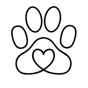 silhouette design store view design #211184: heart paw print
