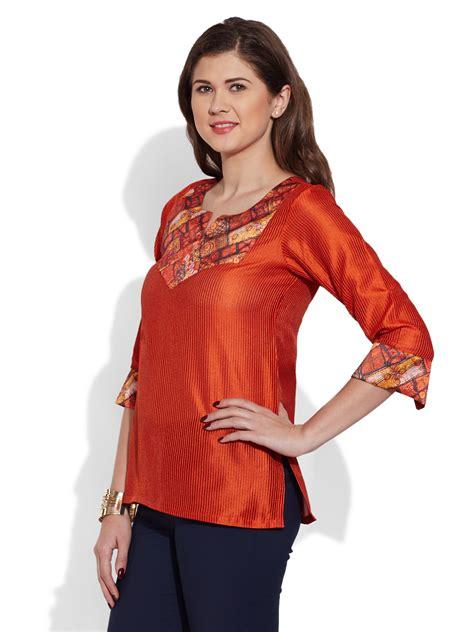 Blouse Ratu Tunic Tunik womens faux silk tunic top kurta kurti indian ethnic blouse 2204 1