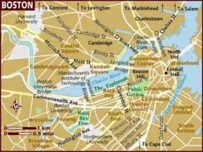 map of the usa showing boston massachusetts map of boston