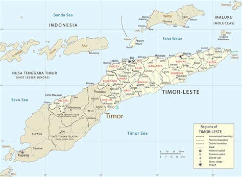 where is east timor on a map timor island map dili east timor