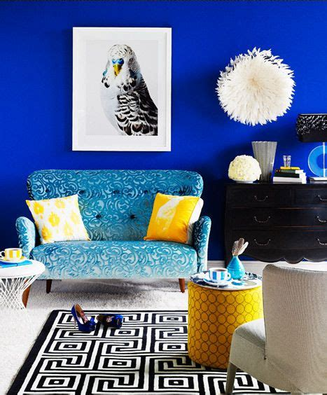 royal blue accent wall for the home pinterest wall colors love the and electric blue