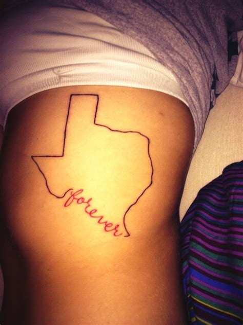 texas tattoo forever on my rib cage tattooossss