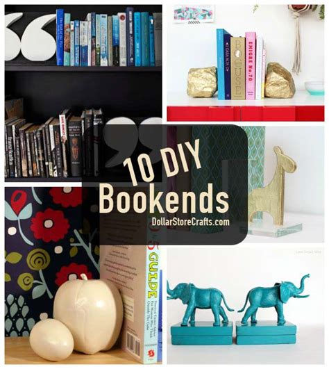Dollar Store Home Decor Ideas by 10 Cute Bookends To Get Your Bookcase In Order 187 Dollar