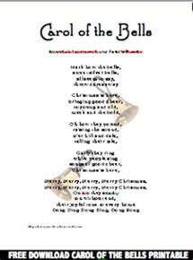 learn your christmas carols carol of the bells lyrics