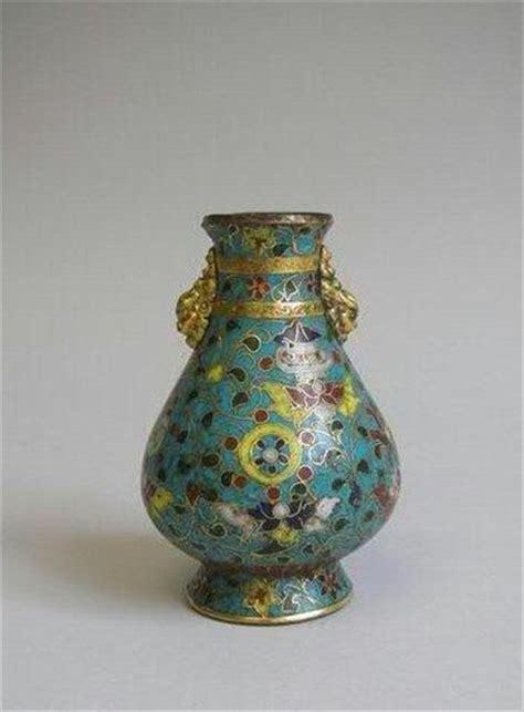 Lotus Vase Petit Vase En Bronze Dor 233 Et 233 Maux Cloisonn 233 S Chine