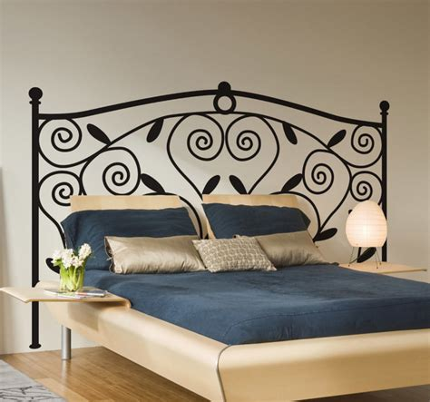 iron wall sticker wrought iron headboard wall decal tenstickers