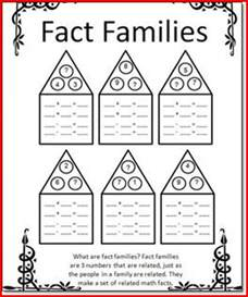 fact family worksheets for 1st grade kristal project