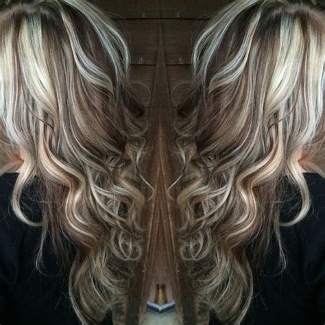 platinum blonde hair with brown highlights blonde highlights with chocolate brown lowlights hair