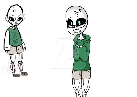 My first skeleton baby.(i guess undertale oc idk? by The Crazy Canadian on DeviantArt