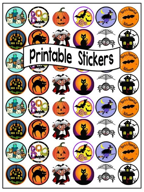 printable stickers halloween 68 best printable stickers images on pinterest printable