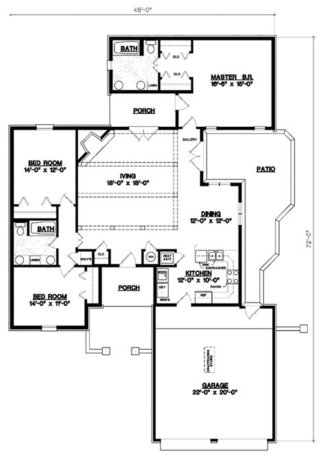 house plan 45 8 62 4 european style house plan 3 beds 2 baths 1678 sq ft plan