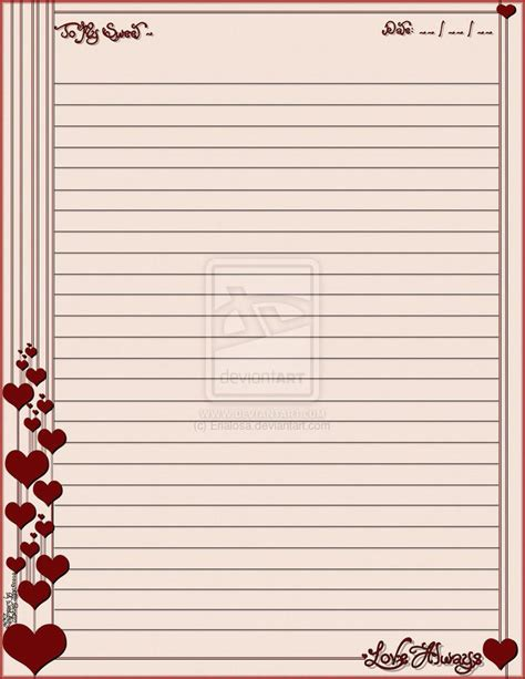 printable romantic stationery 25 best images about borders stationary hearts on