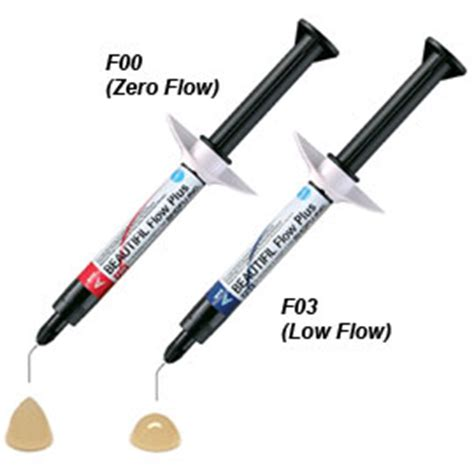 Composite Dentex Type Flow Isi 3 Gram beautifil flow plus f00 zero flow a2 syringe injectable hybrid dental supplies