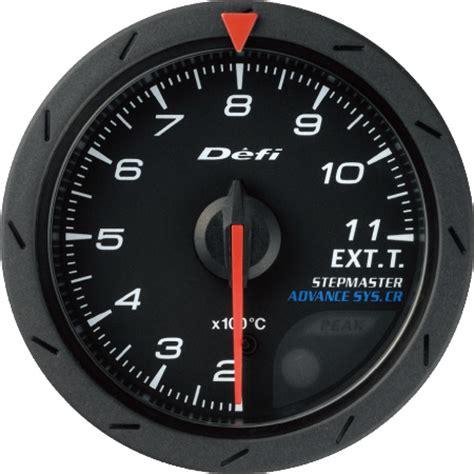 Indicator Defi Cr defi advance cr exhaust temp