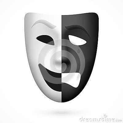 máscara de teatro de la comedia y de la tragedia imagen de