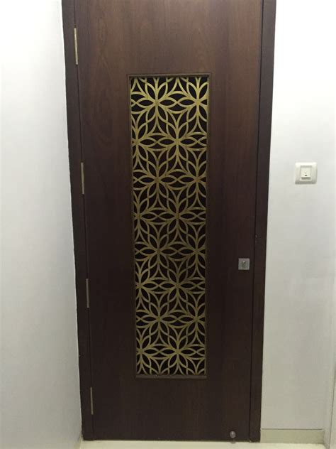 door jali design metal laser cut door grill in brass antique finish