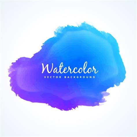 blue watercolor paint stain vector free