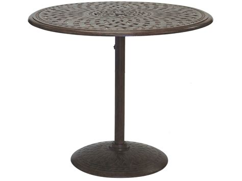 counter height outdoor table darlee outdoor living series 60 cast aluminum 42