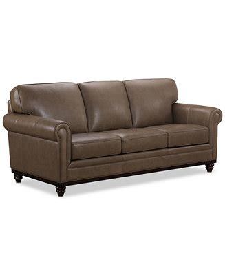 martha stewart leather sofa martha stewart collection bradyn 89 quot leather sofa created