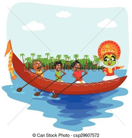 drawing of boat race vectors illustration of kathakali dancer doing boat race