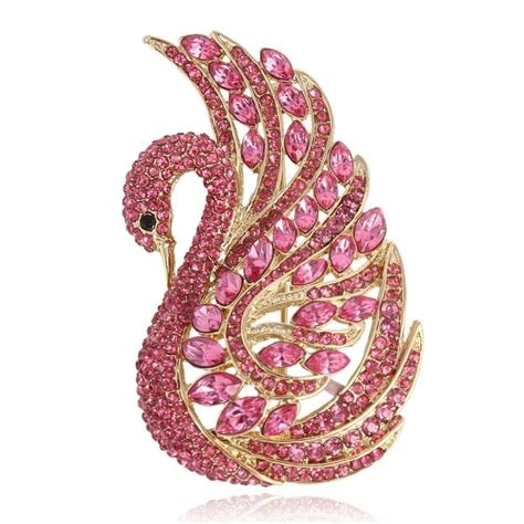Swan Pink 7 17 best images about swan jewelry and decorations on brooches cleef arpels and