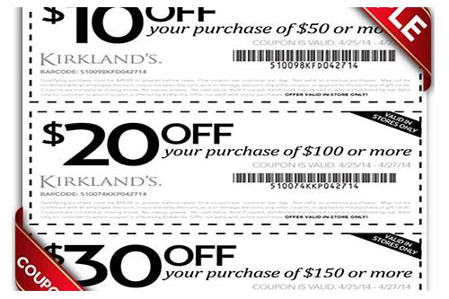 kirkland's store coupon october 2018