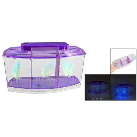 Lu Led Aquarium Mini clear plastic battery powered led l mini desktop fish