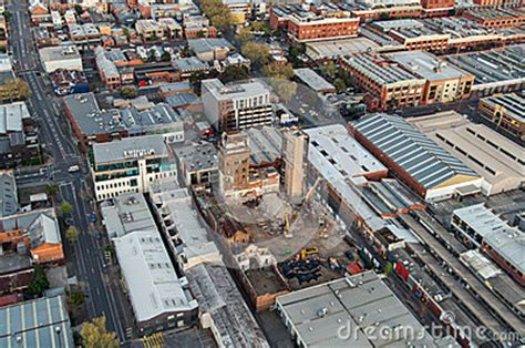 aerial view of melbourne suburbs stock photo image: 43168050