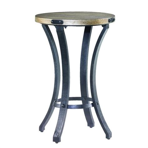 round black accent table hammary hidden treasures round accent table in black