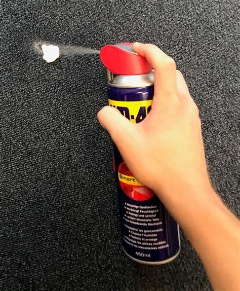 kaugummi aus teppich flecken entfernen so klappt s auch mit wd 40