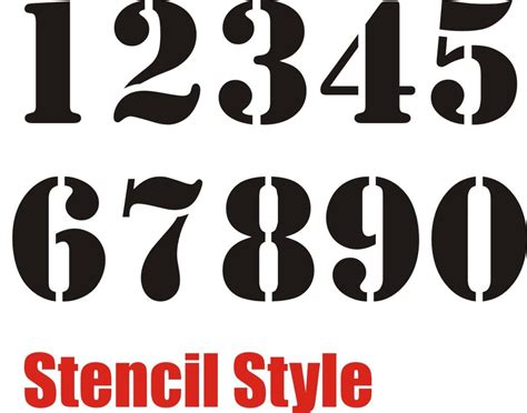 printable number stencils for spray painting numbers stencil style by team valhalla racing team