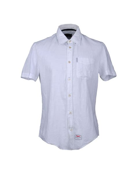 shirts for armani shirt in white for lyst