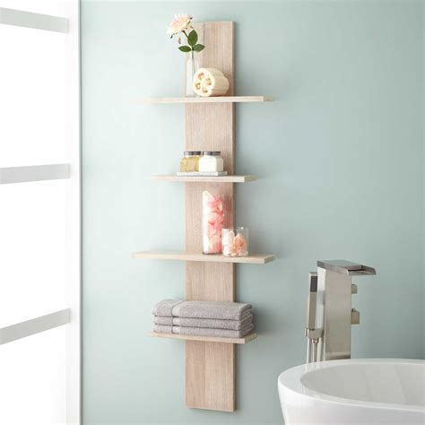 Wulan Hanging Bathroom Shelf Four Shelves Bathroom White Shelves Bathroom