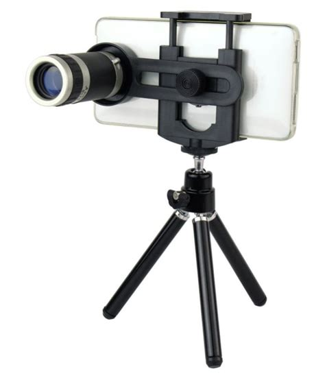 buy universal 8x zoom mobile telescope lens mini tripod with adjustable mobile holder at