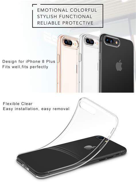 esr iphone   case iphone   caseslim clear soft tpu cover support wireless charging