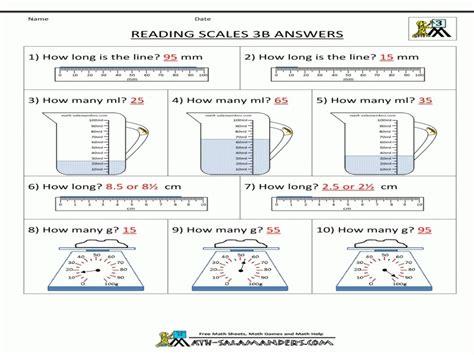 3rd Grade Measurement Worksheets by Measurement Worksheets Grade 2 Wallpapercraft