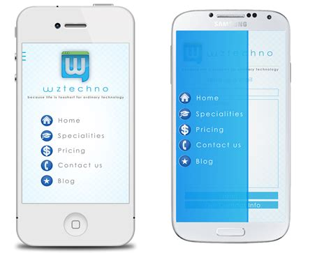 Template Mobile App wztechno business mobile android ios template mobile