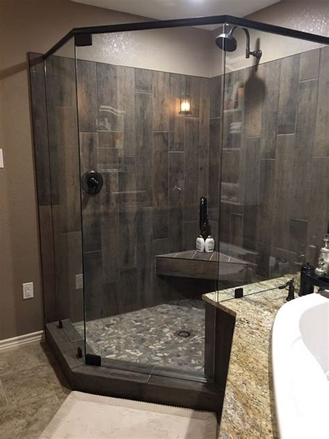 river rock bathroom ideas best 25 wood tile shower ideas on rustic